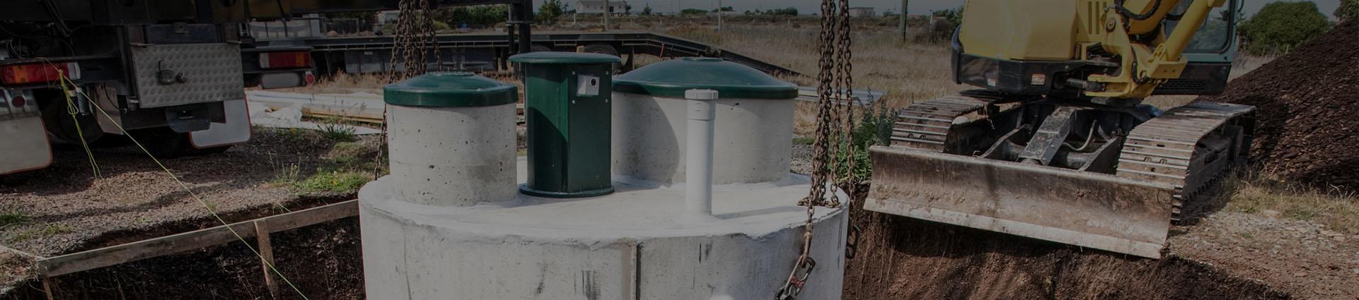 montaż zbiornika na szambo